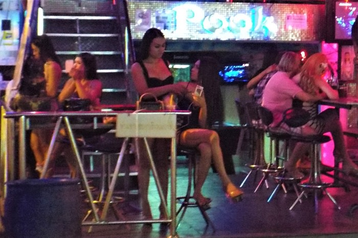 Ladyboy bar in Pattaya