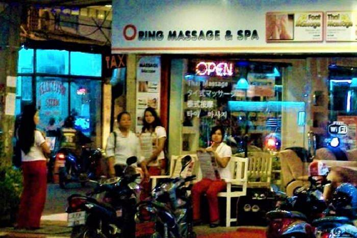 Typical Thai massage shop